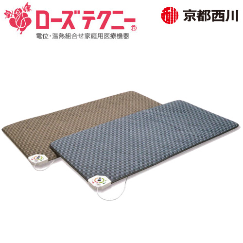 京都西川 ローズテクニー JNR-1004 ワイドシングル(WS)電位・温熱組合せ家庭用医療機器 100×200×3.8cm 日本製
