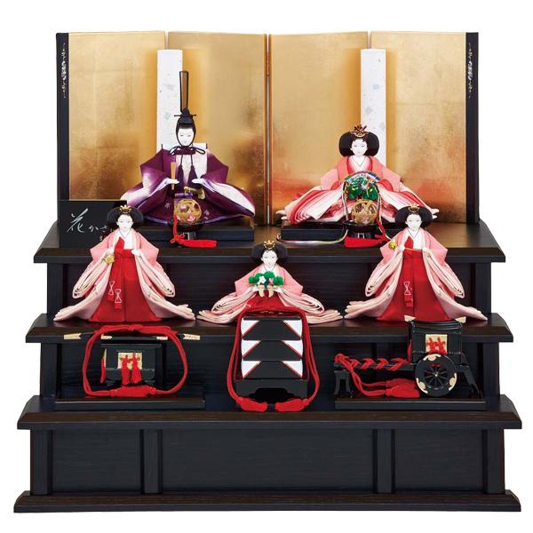 ※要在庫確認 雛人形 ひな人形 吉徳 【2019年新作】小三五親王 小芥子官女 五人飾り 花かさね