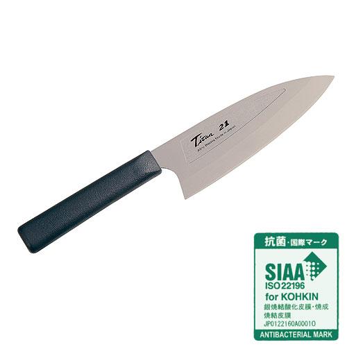 【在庫限り!】■FOREVER 銀抗菌 銀チタン 薄出刃包丁 ナイフ 160mm GD-16 日本国産 フォーエバー 錆びない 軽い 片刃