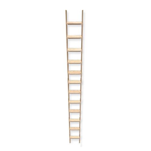 ■室内用木製はしご12段 無塗装仕上 全長320cm 【メーカー直送】 梯子 ハシゴ 幅38cm レッドパイン材