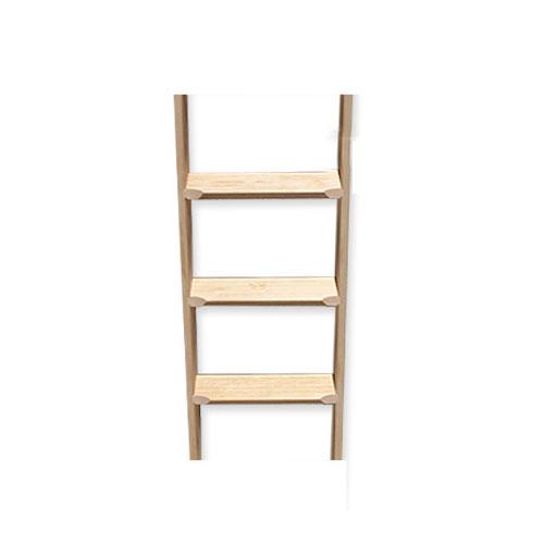 ■室内用木製はしご 3段 無塗装仕上 全長95cm 【メーカー直送】 梯子 ハシゴ 幅38cm レッドパイン材