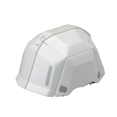 ■トーヨー 防災用折りたたみヘルメット NO.101 ホワイト 40個組 TOYO BLOOMII BLOOM2 白 保護帽 ワンタッチ【メーカー直送】