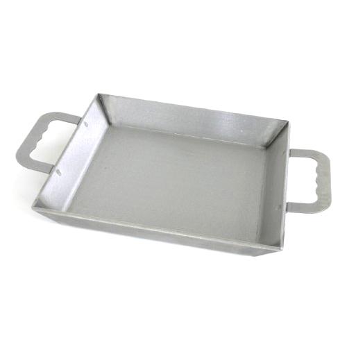 ■伝統の鍛冶屋鍋 6mm厚板鉄板 IH対応 愛宕山工業 アウトドアやバーベキューに! フライパン 焼肉