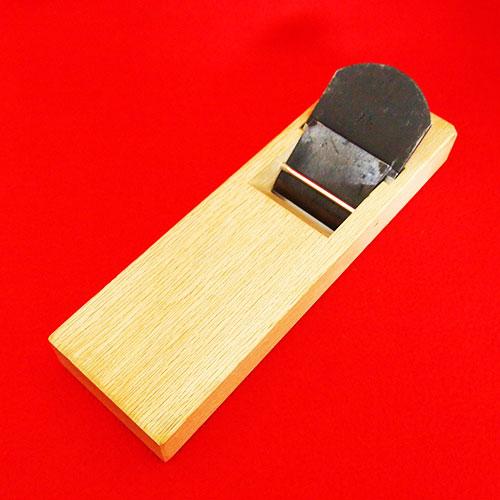 """■马上横山邦男作""""日本""""(大和)使用刨子白栎寸8 70mm寸8美人蕉刨子半包裹"""