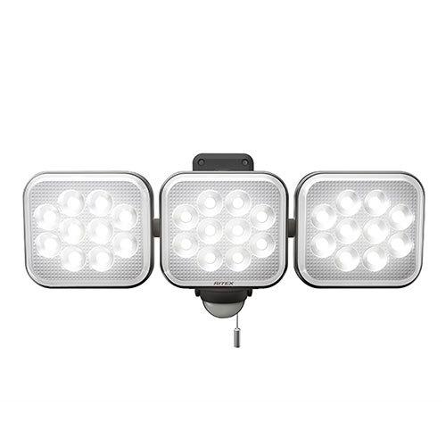 ■ライテックス LED-AC3042 14W×3灯 フリーアーム式 LEDセンサーライト 電源式 明るさ4000ルーメン 照明 RITEX 投光器