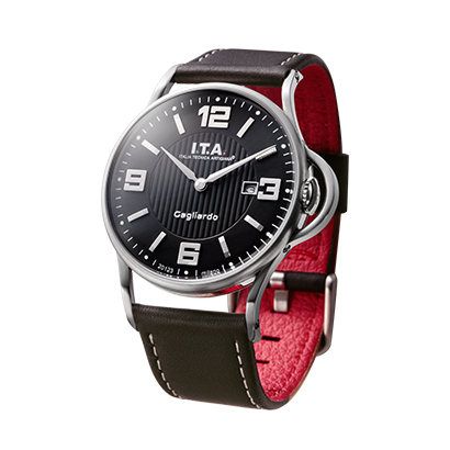 【 ITA 新作】 送料無料 Ref.23.00.04 I.T.A. Gagliardo ガリアルド Black dial ブラックダイアルニューコレクション 2016年11月発売 輸入元:一新時計