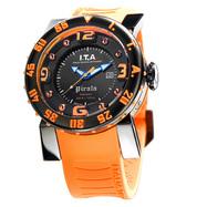 【送料無料】I.T.A . Pirata black & orangeピラータ ブラック&オレンジRef.00.04.12 輸入元 一新時計ITA I T A イタ イタリア 腕時計 ウォッチ ウオッチ