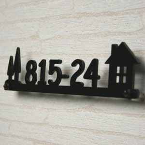 Stainless Steel Laser Cut Nameplate Street Address House For Foreign Goods ひょうさつ