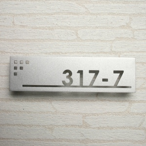 Stainless Steel Door Plate Laser Cut Banchi For Foreign Goods ひょうさつ