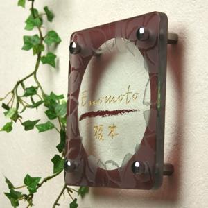 Hyosatsu Meister Door Plate Glass Flat Glass Nameplate G Series