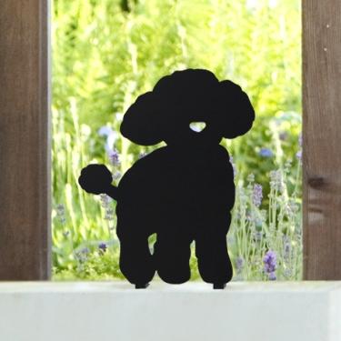 ウェルカムアニマル いぬのエクステリア ANIMAL-05「プードル」 ステンレス ひょうさつ【GHO表札】【人気表札】【動物】【犬】【イヌ】【ペット】