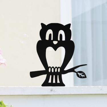ウェルカムアニマル フクロウのエクステリア ANIMAL-08「フクロウ」ステンレス ひょうさつ【GHO表札】【人気表札】【動物】【ふくろう】【梟】【鳥】
