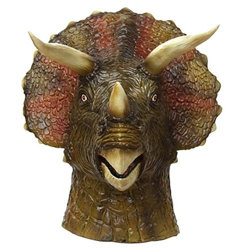[恐竜 マスク]ラバーマスク トリケラトプス [恐竜 マスク ラバーマスク なりきりマスク 仮装マスク かぶりもの 変装 パーティーグッズ]【C-0496_056134】u89