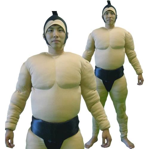 [相撲 コスプレ] 相撲スーツ 黒 [大相撲 力士 コスプレ ブラック 肉襦袢 着ぐるみ まわし 衣装 イベント コスチューム]【A-1494_112288】
