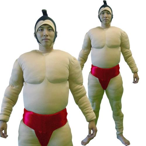 [相撲 コスプレ] 相撲スーツ 赤 [大相撲 力士 コスプレ レッド 肉襦袢 着ぐるみ まわし 衣装 イベント コスチューム]【A-1501_112295】