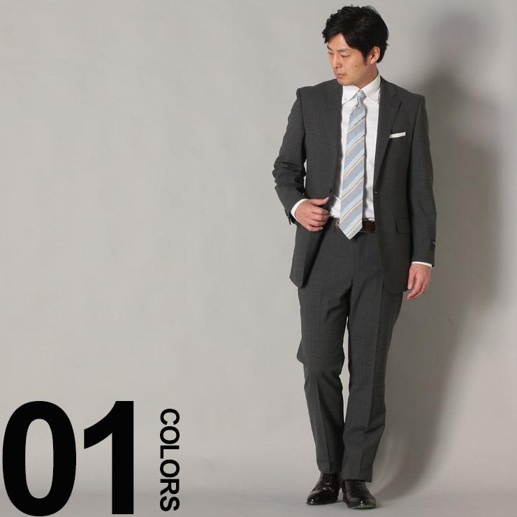 スーツ メンズ HYBRIDBIZ ハイブリッドビズ 2WAYストレッチ パンツウォッシャブル ストライプ シングル 2パンツ ビジネス スーツ グレー YA体 A体