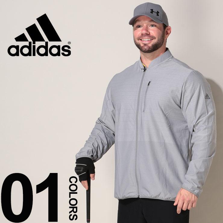 大きいサイズ メンズ adidas アディダス クライマクール フルジップ ジャケット GOLF GRAY カジュアル トップス スポーツ ストレッチ トレーニング ゴルフ DQ2265