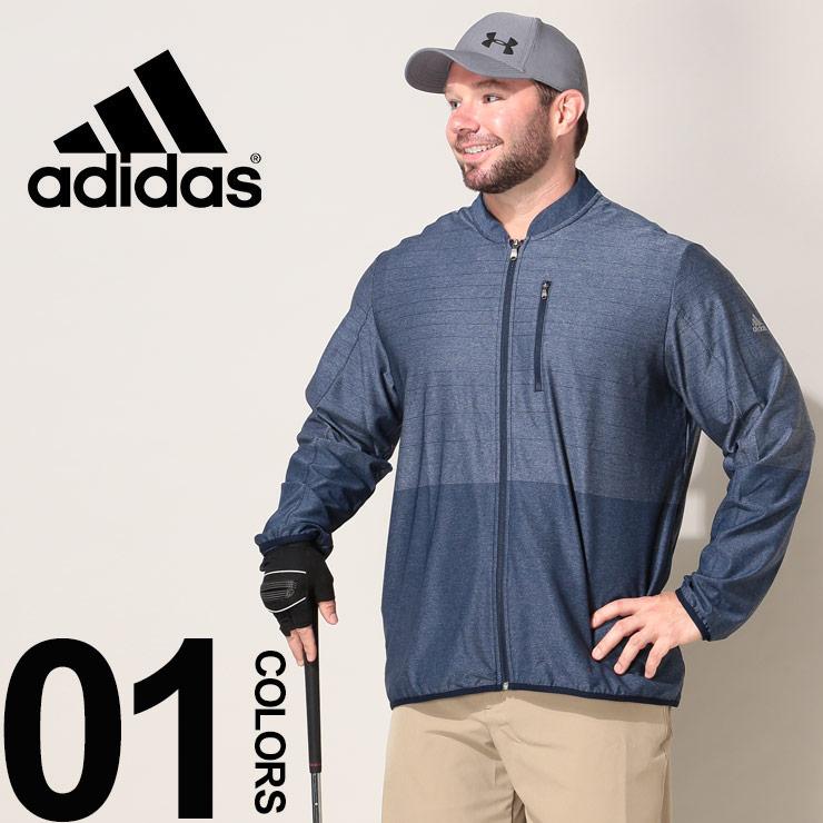 大きいサイズ メンズ adidas アディダス クライマクール フルジップ ジャケット GOLF NAVY カジュアル トップス スポーツ ストレッチ トレーニング ゴルフ DQ2260