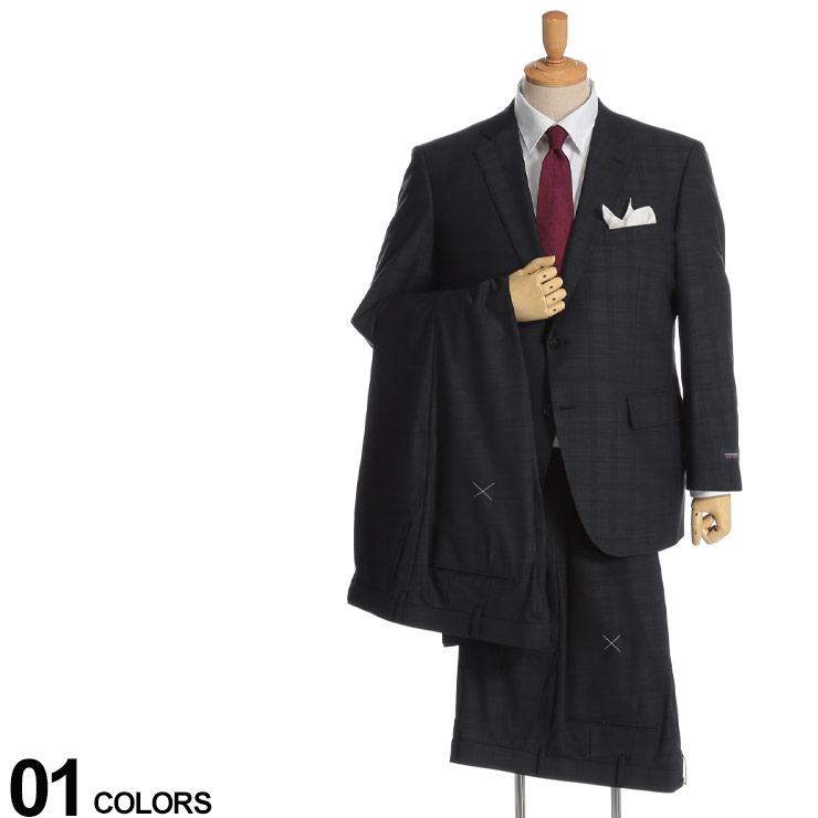 大きいサイズ メンズ 紳士 男性 ビジネス シングルスーツ センターベント 伸縮 機能性 パンツウォッシャブル 大きいサイズ メンズ HYBRIDBIZ (ハイブリッドビズ) SUPER MOVE 2WAYストレッチ シャドーチェック シングル 2ツ釦 2パンツ スーツ ビジネス シングルスーツ センターベント 伸縮 機能性 パンツウォッシャブル 6119154K2