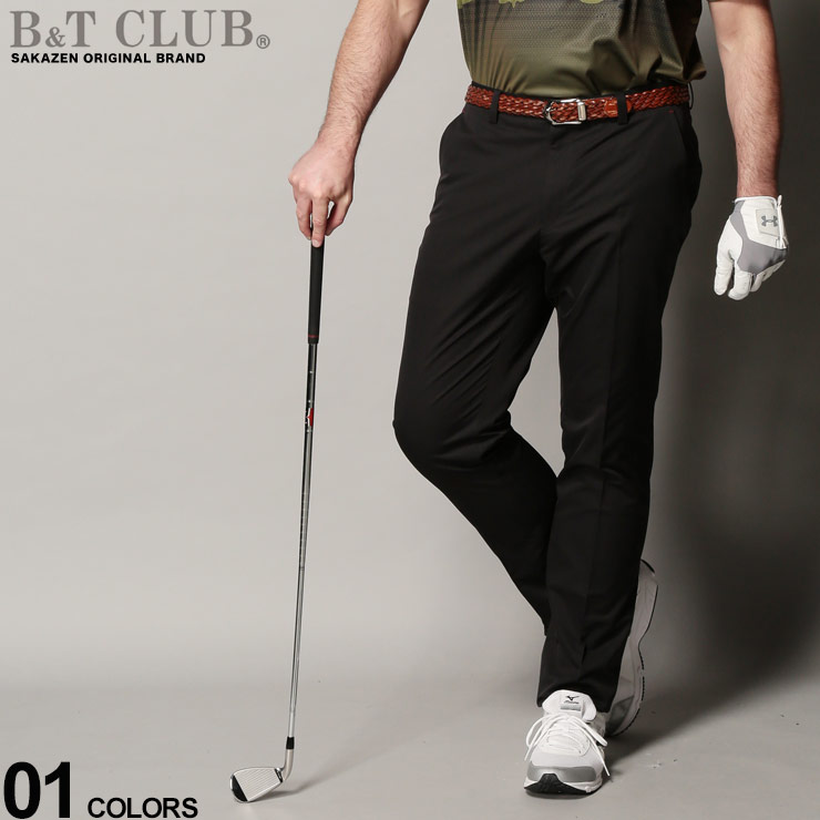 10%OFFクーポンあり■大きいサイズ メンズ B&T CLUB (ビーアンドティークラブ) ストレッチ 無地 ゴルフ チノパンツ SOLOTEX ボトムス パンツ ロングパンツ スポーツ ゴルフ ノータック 5120452