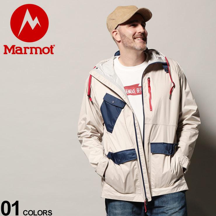 大きいサイズ メンズ Marmot (マーモット) ナイロン フーディー フルジップ ジャケット ashbury precip eco jacket トップス アウター ジャケット アウトドア ウィンドブレーカー 31650