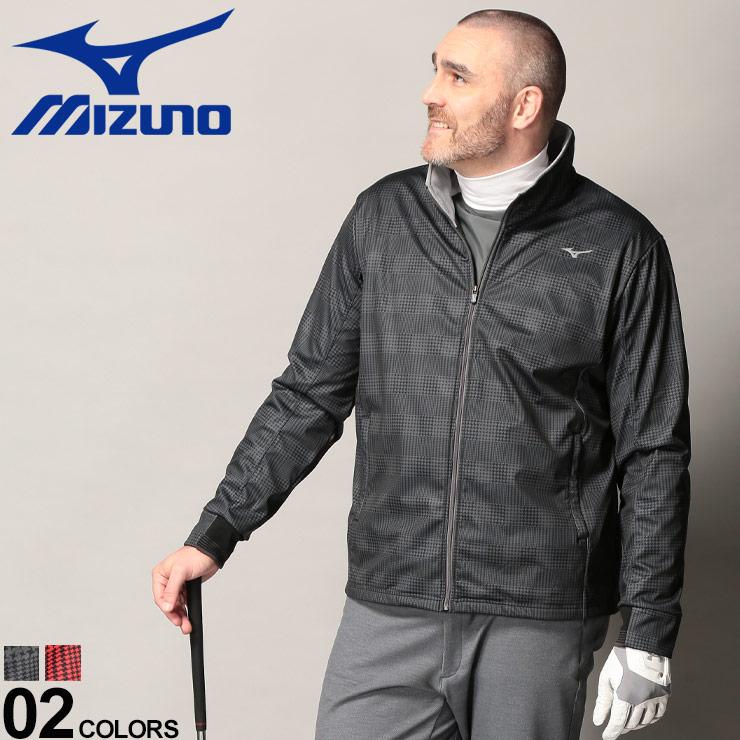 10%OFFクーポンあり■大きいサイズ メンズ MIZUNO (ミズノ) 防風 ストレッチ フルジップ テックシールド ムーブウォーマー 厚手 ブルゾン フリース スタンド スポーツ 暖かい 動きやすい 52JE9570