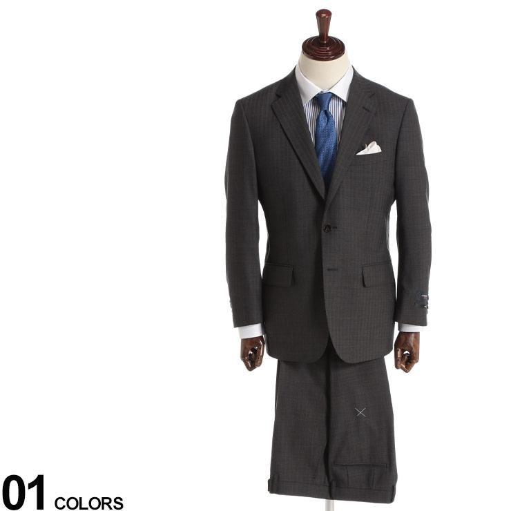 2WAYストレッチ スーツ ビジネススーツ スーツ シングル ストライプ ノータック 洗える 5120112AT ビジネス 紳士 ウール ウォッシャブル シャドーストライプ GRAYメンズ 2ツ釦 (ハイブリッドビズ) HYBRIDBIZ ストレッチ オールシーズン 伸縮
