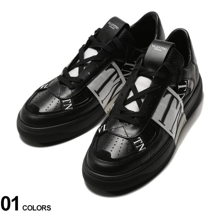 VALENTINO (ヴァレンティノ) レザー ロゴテープ スニーカー VL7Nブランド メンズ 男性 シューズ 靴 スニーカー レザースニーカー 革 モノトーン ストリート VLTY2S0C58