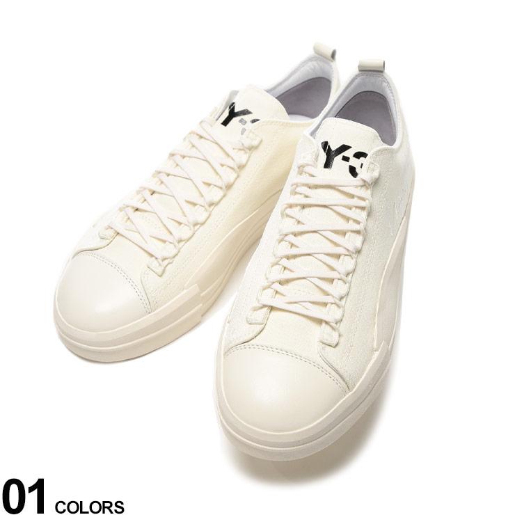Y-3 (ワイスリー) キャンバス レザー切り替え ローカットスニーカー YUBEN LOW WHITEブランド メンズ 男性 シューズ 靴 スニーカー ローカット レザー 革 キャンバス レースアップ アディダス Y3EH1374