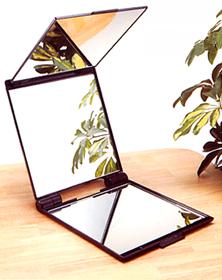 ルアン キュービック ミラー 携帯三面鏡 ミリオンヘアー のお供に【05P03Dec16】
