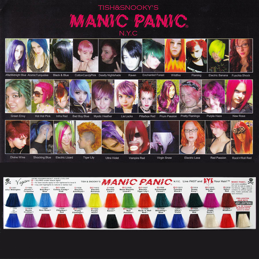 Mrm Rakuten Ichiba Shop Manic Panic Color Chart