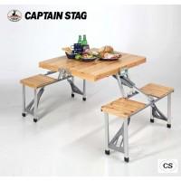 CAPTAIN STAG NEWシダー 杉製ピクニックテーブル(ナチュラル) UC-0003【05P03Dec16】