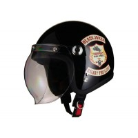 HUNTER・ARC シールド付スモールジェットヘルメット JOKER/BLACK HBC-10JB【05P03Dec16】