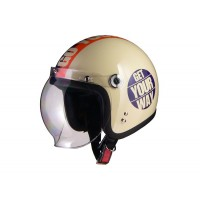 HUNTER・ARC シールド付スモールジェットヘルメット GOYOUR/IVORY HBC-10GIV【05P03Dec16】
