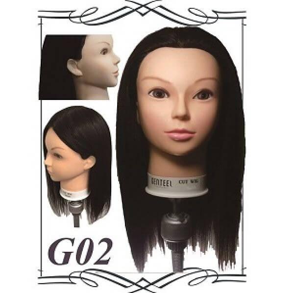【送料無料】カットマネキン GENTEEL【ジェンティール】 カットウィッグ G-02 3台セット!【理美容・理容・美容・カット練習・カットウィッグ】人毛100%【05P03Dec16】