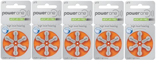 パワーワン補聴器電池送料無料 長い歴史を持つドイツ製補聴器用電池 パワーワン 2020 power 13 5パック 30粒 one補聴器空気電池PR48 流行