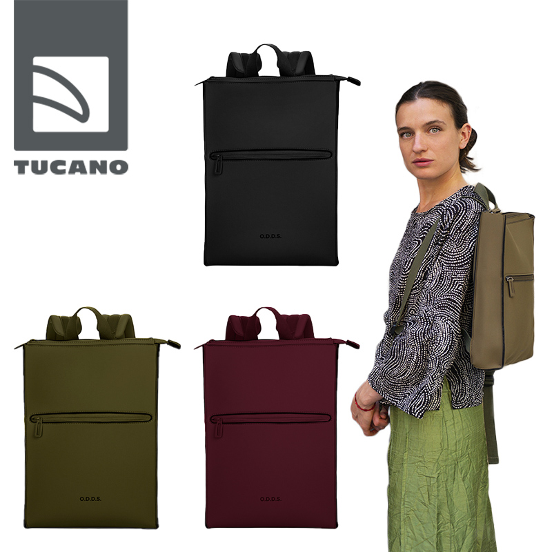 """TUCANO ODDS Trip backpack TUCANO ODDS Trip backpack ツカーノ """"オッズ""""トリップバックパック ネオプレン素材の美しいバックパック ギフト"""