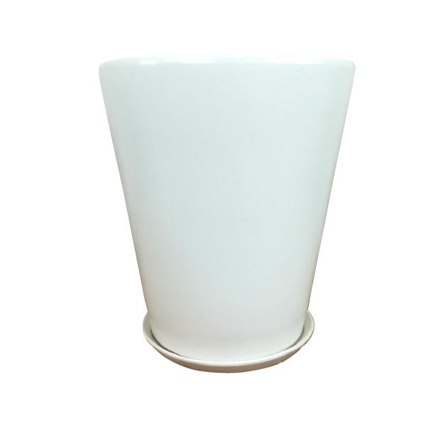 植木鉢 おしゃれ シンプルポット KT223-400 13号(40cm) / 陶器鉢 白 大型 軽い