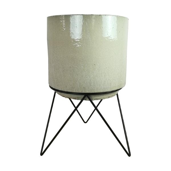 植木鉢 おしゃれ アイアンスタンド付き鉢カバー KT401-380 13号(38cm) / 陶器鉢 アンティーク 大型