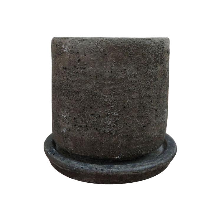 和モダンでシックな質感が魅力的 おしゃれな植木鉢 植木鉢 おしゃれ 保障 セメントポット MM004-150 15cm 丸型 アンティーク 5号 陶器鉢 即納送料無料!
