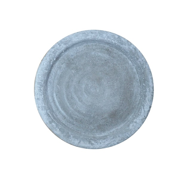 シャビー加工されたセメント製の受け皿 植木鉢 おしゃれ 発売モデル シャビーソーサー MM023-125 セメント コンクリート 12.5cm 受け皿 今だけ限定15%OFFクーポン発行中