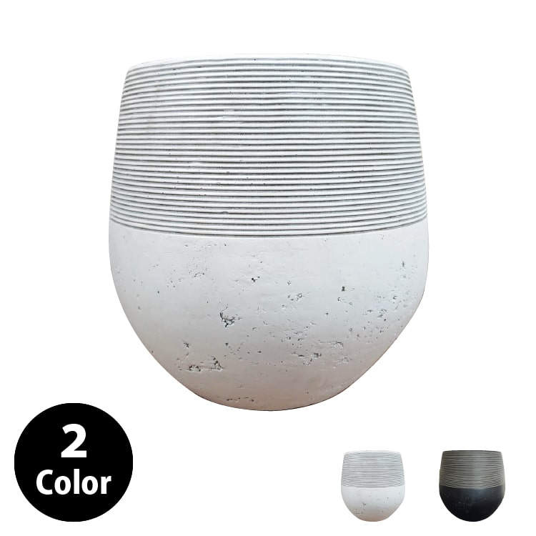 植木鉢 おしゃれ グラスファイバーの鉢カバー MM028-460 15号(46cm) / 陶器鉢 白 黒 大型 軽い