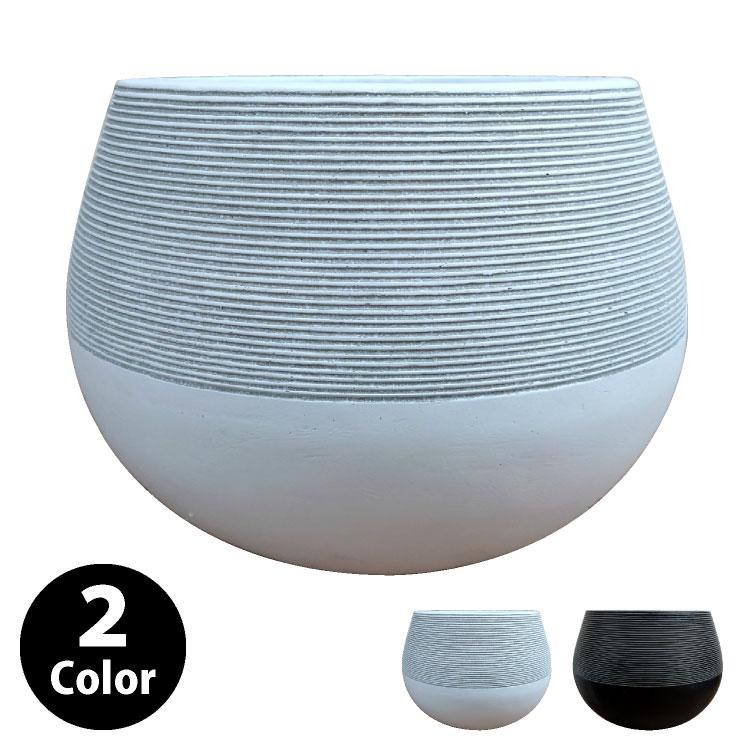 植木鉢 おしゃれ 丈夫で軽いグラスファイバー製 MM049-250 8号(25cm) / 陶器鉢 スタイリッシュ 大型