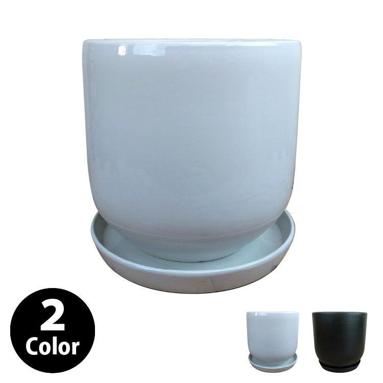 植木鉢 シンプルポット MM067-320 11号(32cm) 受け皿付き