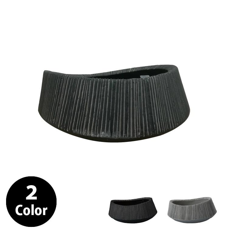 植木鉢 おしゃれ 丈夫で軽いグラスファイバー製 MM302-390 13号(39cm) / 陶器鉢 スタイリッシュ 大型