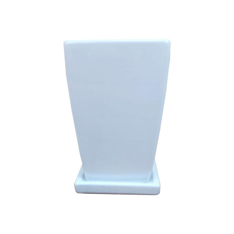 真っ白な 今季も再入荷 陶器 のシンプルモダンポット おしゃれな植木鉢 植木鉢 おしゃれ シンプルポット 13cm 白 4号 RR092-130 新着 四角 陶器鉢