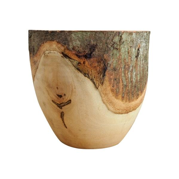 植木鉢 おしゃれ マンゴーウッドポット ST9703-270 9号(27cm) / 鉢カバー 天然木