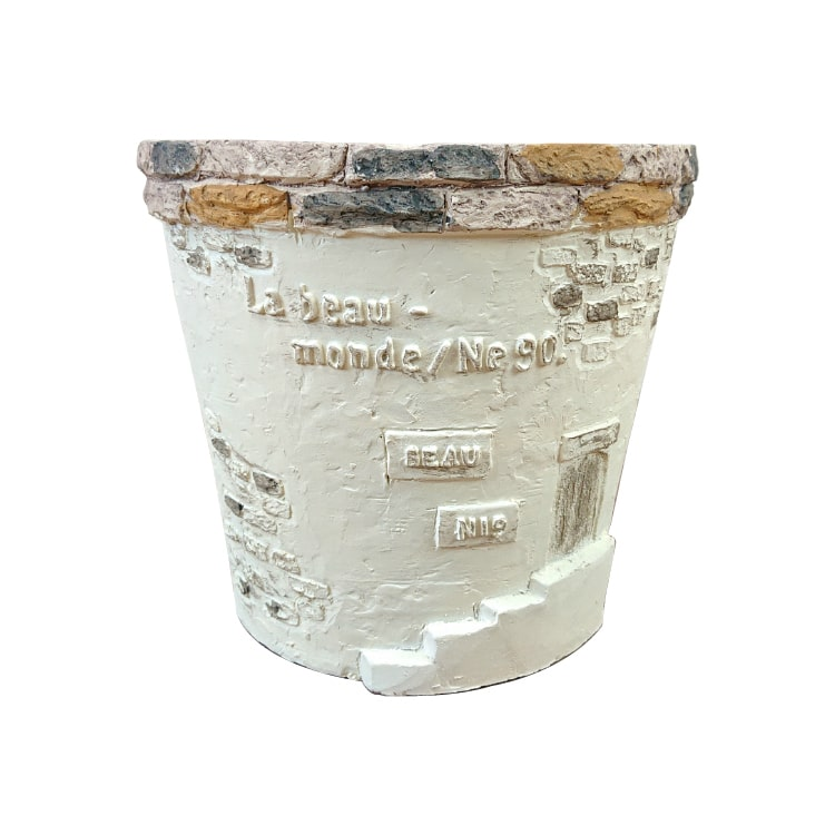グラスファイバー製で軽いガーデンデザインポット 人気急上昇 おしゃれな鉢カバー 植木鉢 おしゃれ ガーデンデザインポット UN248-220 陶器鉢 軽い 7号 グラスファイバー 22cm 今季も再入荷