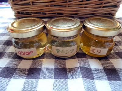 令和2年採蜜 あかしあ 栗 内容量35g×3個 爆売りセール開催中 人気ブレゼント! 3種ミニセットの蜂蜜です りんごハチミツ