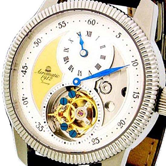 有&纯正盒子Aeromatic 1912 earomatikku 1912 earomachikku 1912手卷手表人飞行员表[A1199]并进进口商品厂商保证24个月